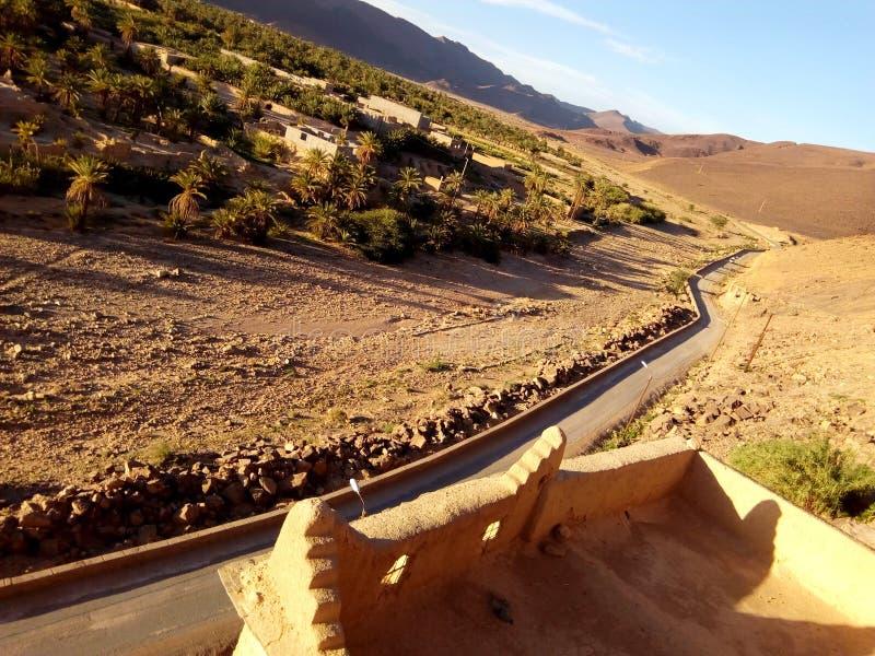 Foto's van de Oase van Aqa in zuidelijk Marokko royalty-vrije stock afbeeldingen