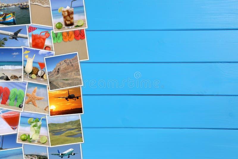 Foto's van de zomervakantie, strand, het reizen, overzees, vakantie en stock fotografie
