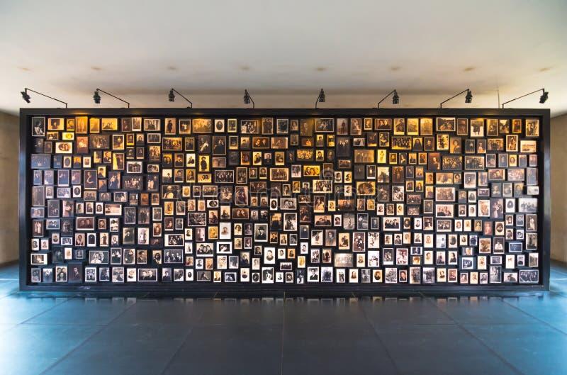 Foto's van slachtoffers van Auschwitz-concentratiekamp, Polen royalty-vrije stock foto