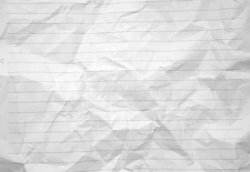 Foto sgualcita allineata di immagine di sfondo del Libro Bianco fotografia stock
