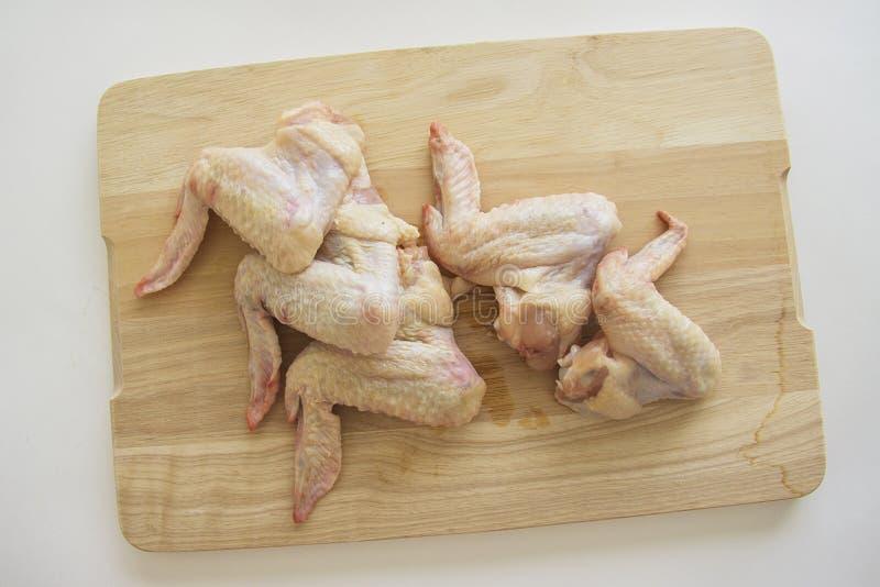 Foto simple de las alas de pollo fotografía de archivo