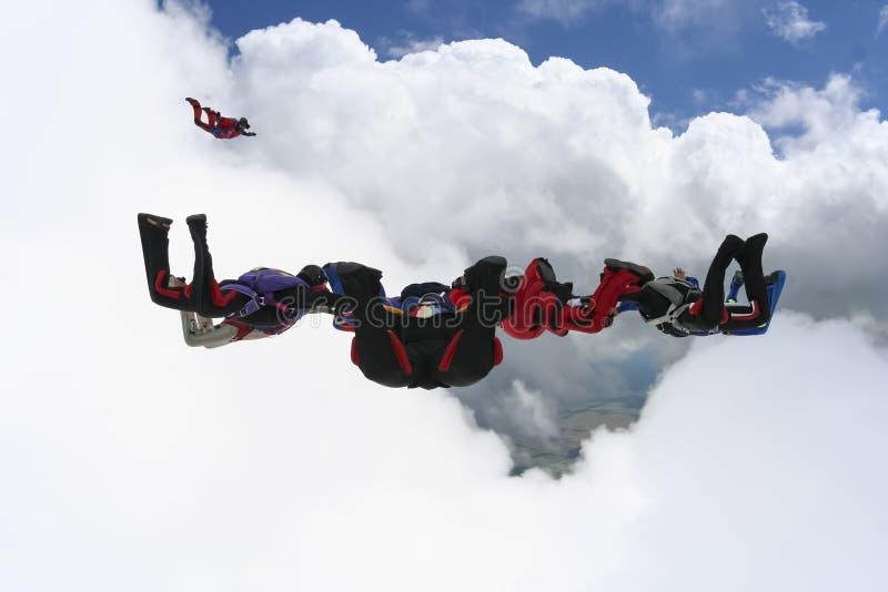 foto som skydiving arkivbild