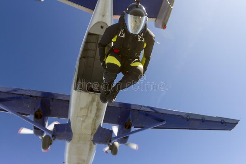 foto som skydiving Flyga i ett fritt fall arkivbilder