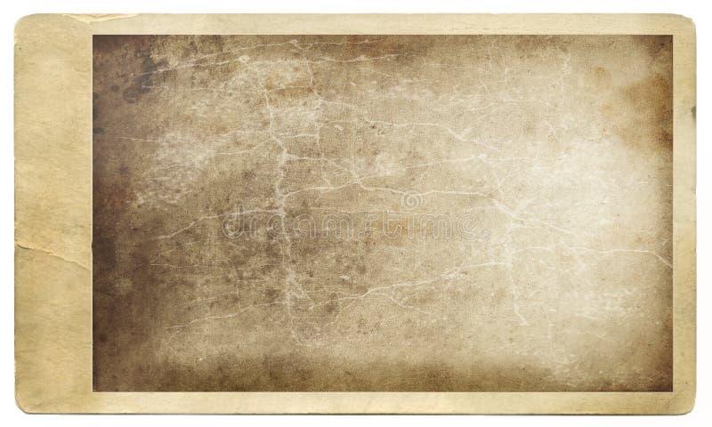 Foto sucia vieja contra blanco ilustración del vector