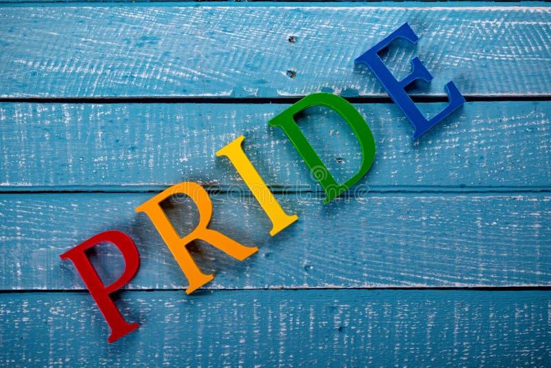 Foto superior da pena do conceito de Gay Pride fotografia de stock
