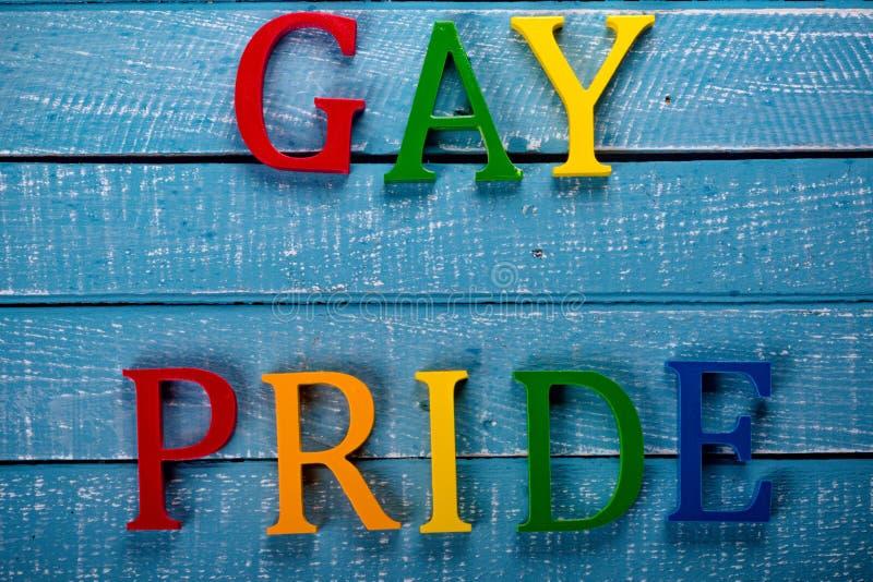 Foto superior del plumón del concepto de Gay Pride fotografía de archivo