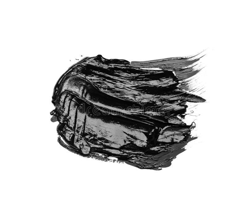 Foto van de kleurrijke zwarte geïsoleerde olieverf van de borstelslag stock fotografie