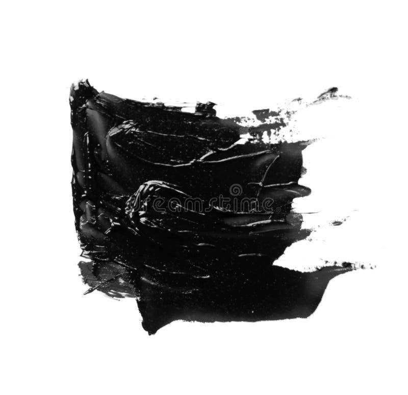 Foto van de kleurrijke zwarte geïsoleerde olieverf van de borstelslag royalty-vrije stock foto's