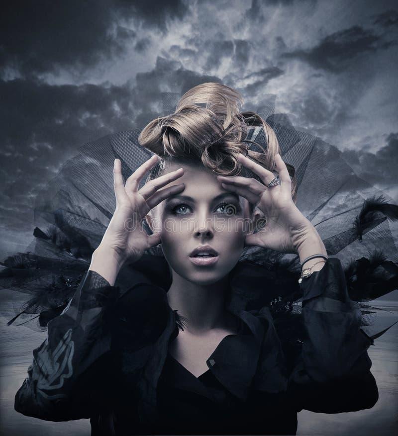 Foto van een gotische vrouw royalty-vrije stock foto's