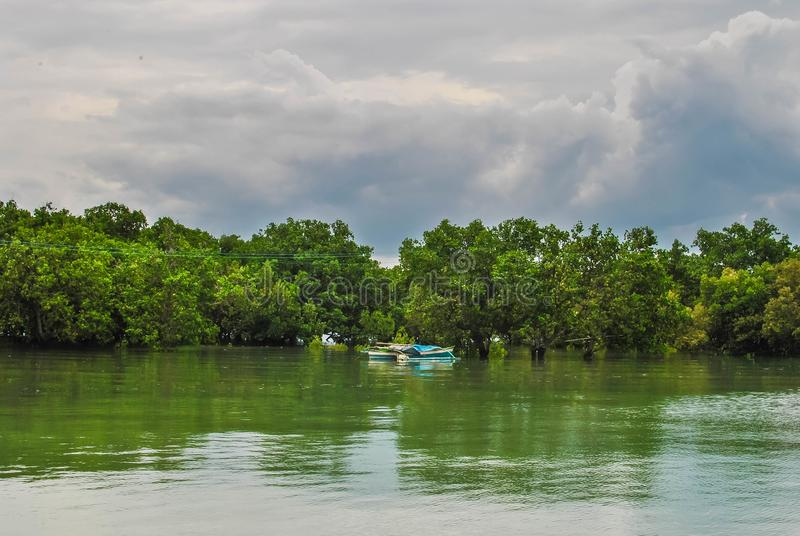 Foto van een kalm meer dat voor milieudoeleinden en spot op ontwerpen kan worden gebruikt royalty-vrije stock fotografie