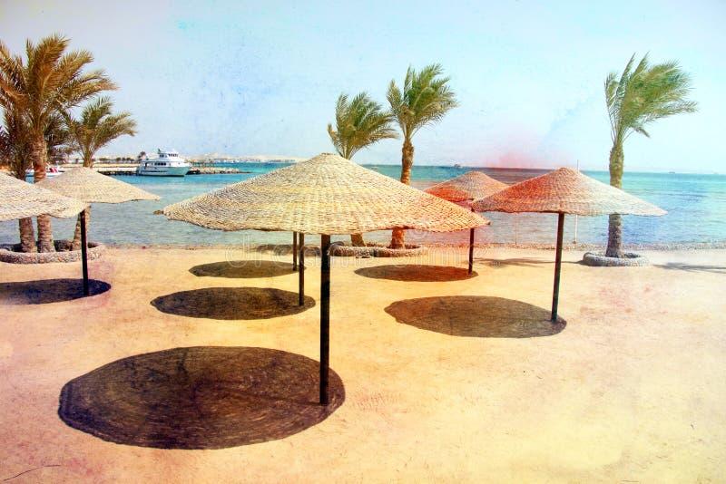Foto van een macro retro strand stock foto's