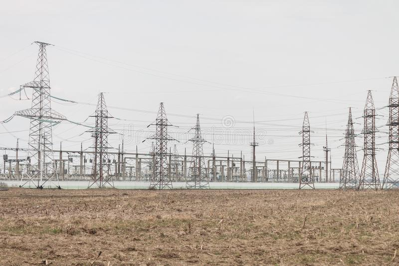 Foto van elektrische centrale royalty-vrije stock foto