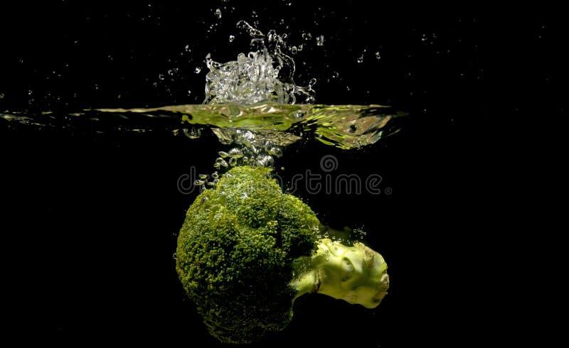 Foto van groenten onder water worden gelaten vallen dat royalty-vrije stock afbeelding
