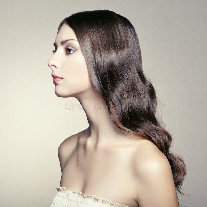 Foto van mooie jonge vrouw. Uitstekende stijl royalty-vrije stock afbeeldingen
