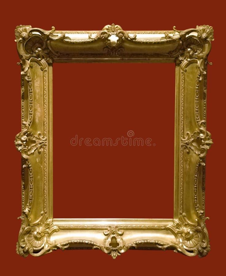 Foto van oude gouden omlijsting stock afbeeldingen