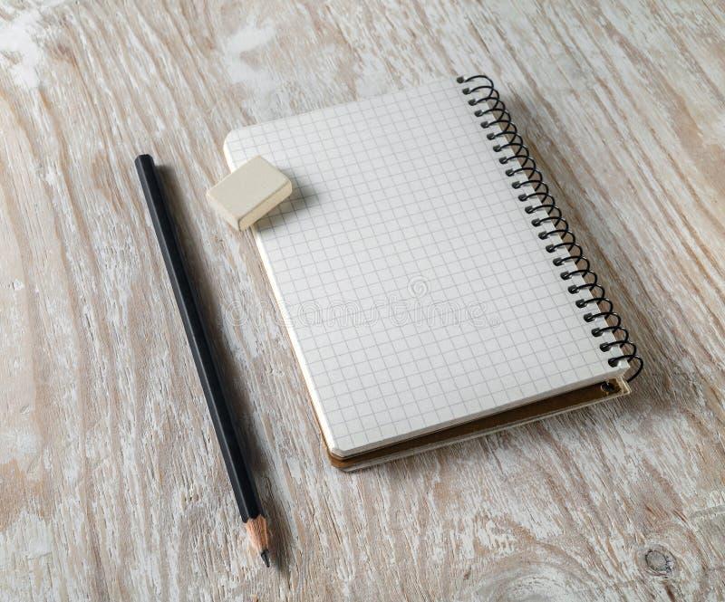 Foto van spatie sketchbook royalty-vrije stock afbeeldingen
