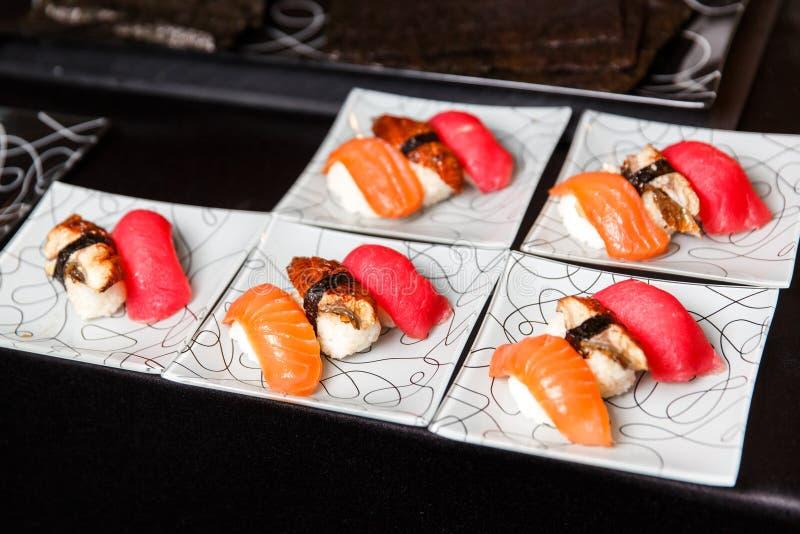Foto van sushi op plaat royalty-vrije stock foto's