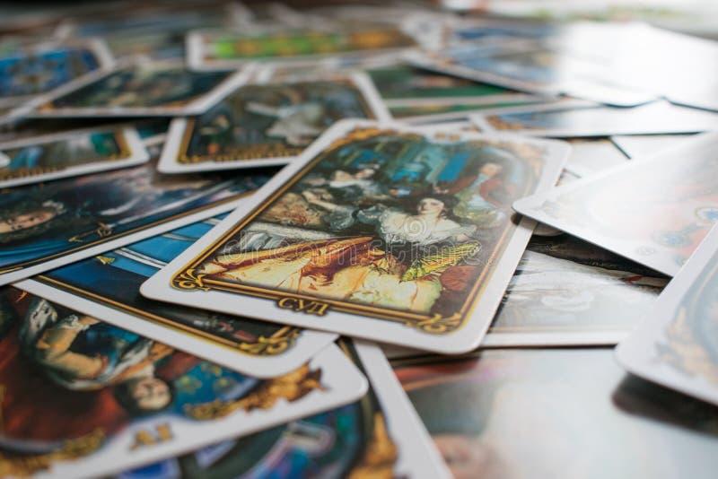 Foto van tarotkaart stock afbeeldingen