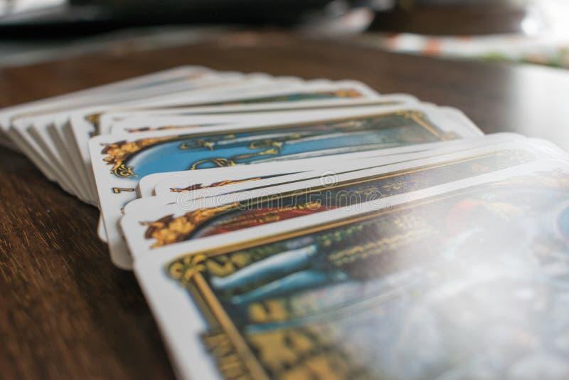 Foto van tarotkaart royalty-vrije stock foto's