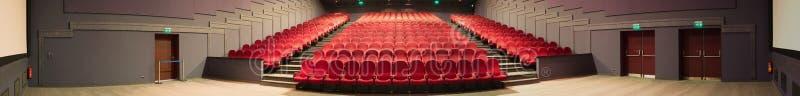 Foto vazia do panorama do cinema fotos de stock