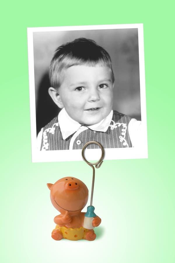 Foto velha da criança feliz fotografia de stock royalty free