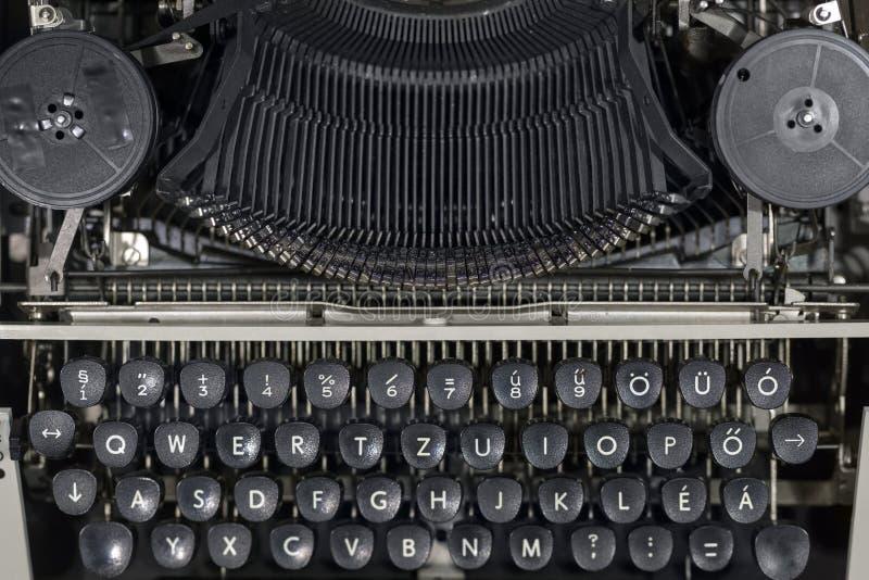 Foto velha do close up da máquina de escrever do vintage fotos de stock royalty free