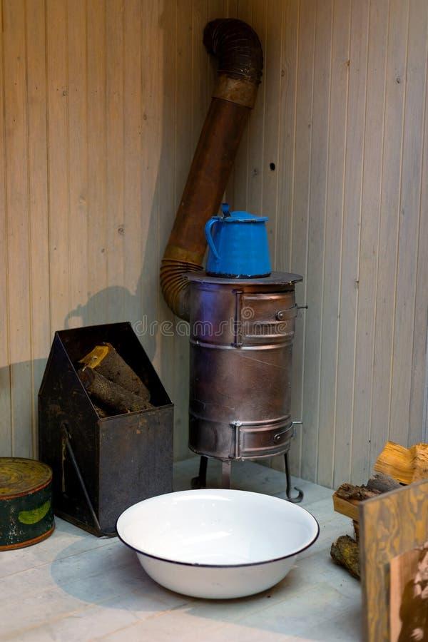Foto velha do close up do equipamento de aquecimento do vintage foto de stock