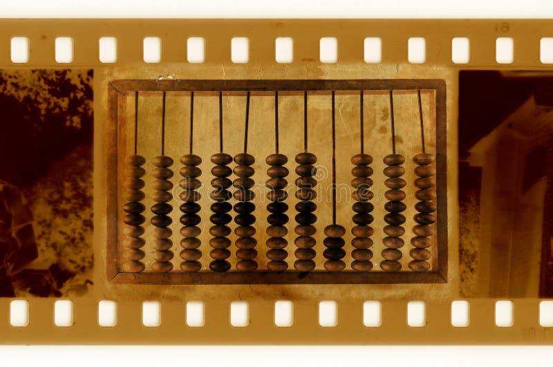 Foto velha do frame de 35mm com ábaco do vintage foto de stock royalty free