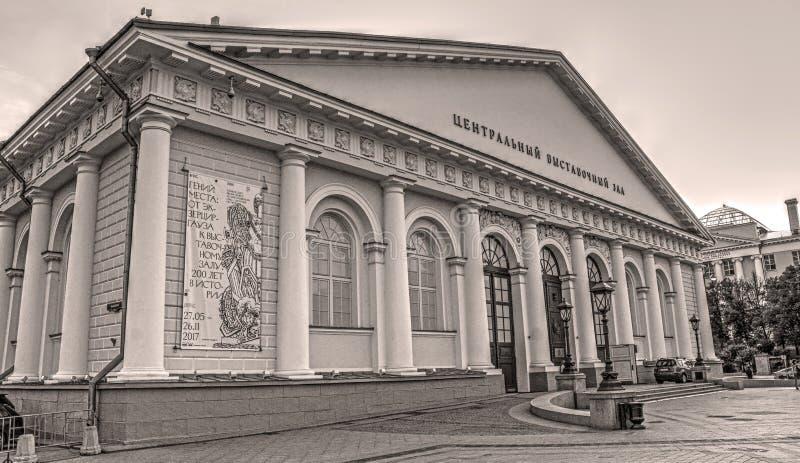 Foto velha do vintage de Moscou Manege foto de stock