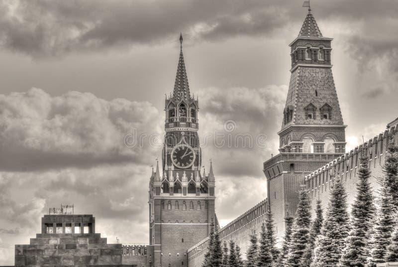 Foto velha do vintage do Kremlin de Moscou imagem de stock