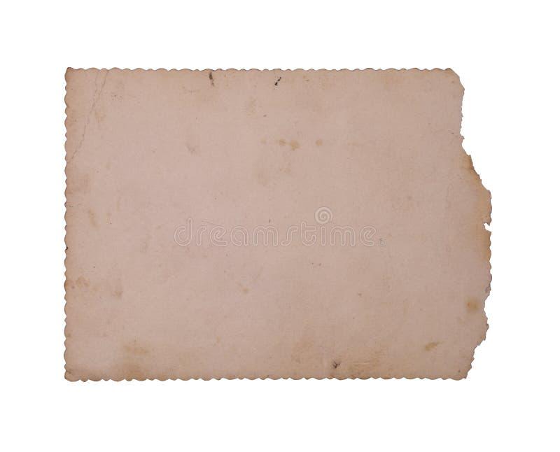 Foto velha isolada no fundo branco foto de stock royalty free
