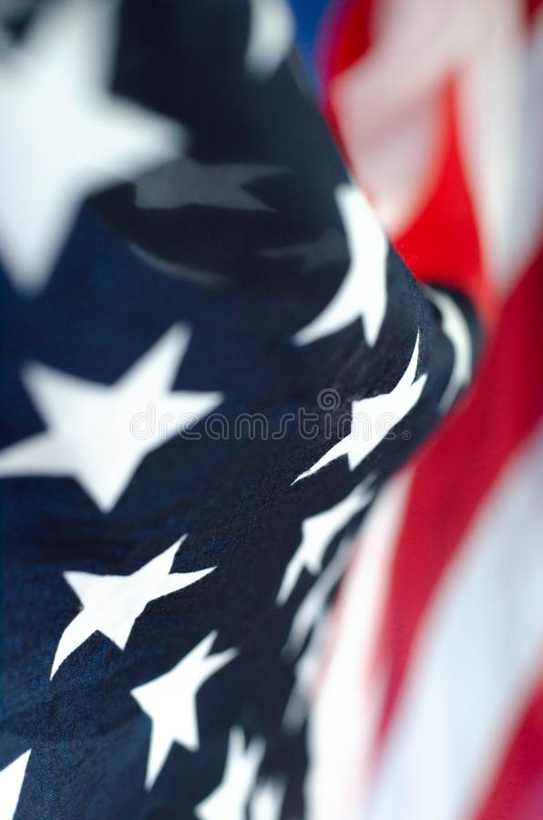 Foto verticale astratta di una bandiera americana fotografie stock libere da diritti