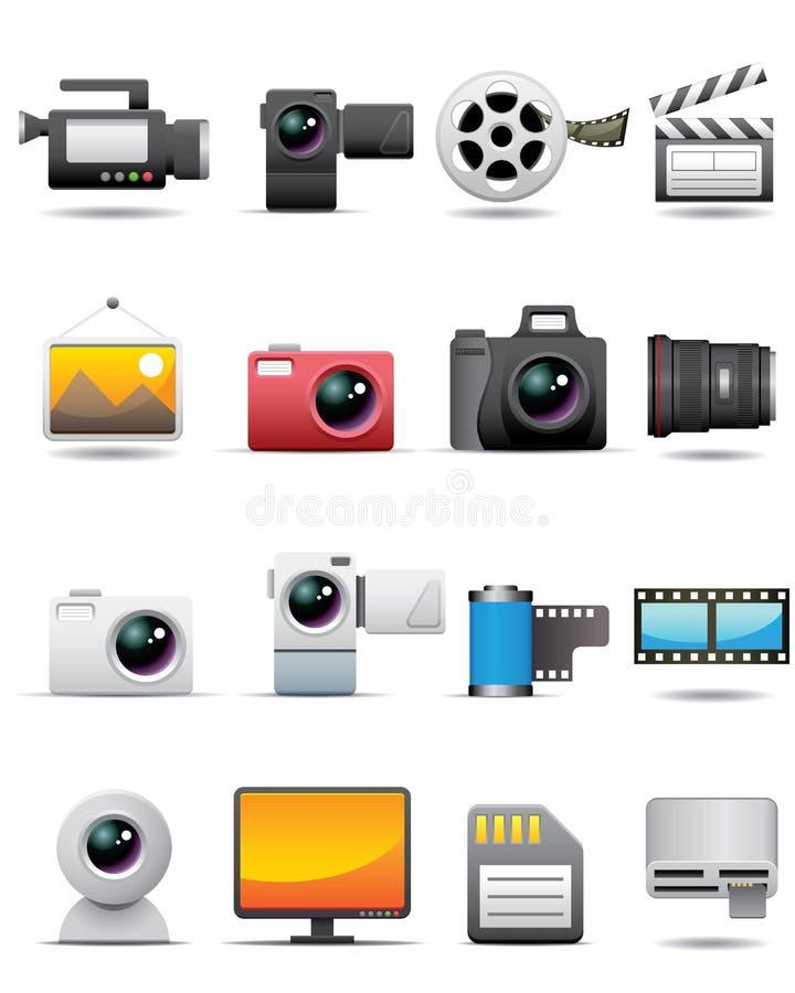 Foto, Video, Film-Ikonen -- Erstklassige Serie vektor abbildung