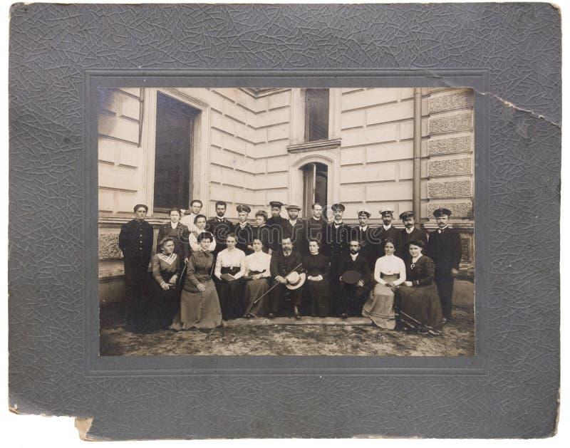 Foto vieja del siglo XIX fotografía de archivo