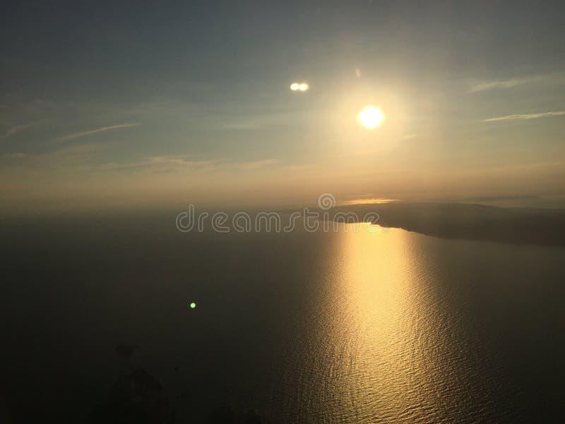 Foto vom Himmel im einfachen Seesonnensommer Marseilles Frankreich stockfotografie