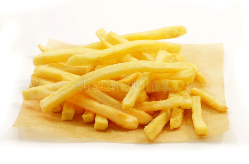 Foto von Makropommes-frites lizenzfreies stockbild