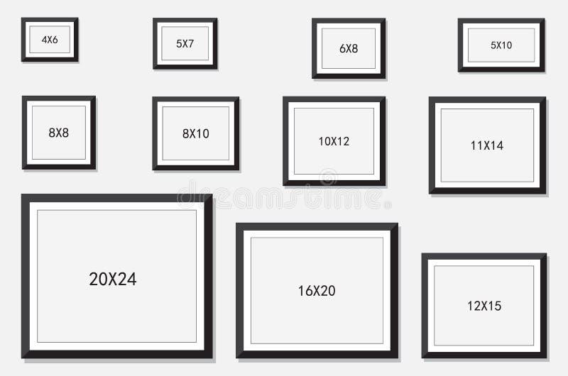 Foto y tamaño del marco ilustración del vector. Ilustración de foto ...