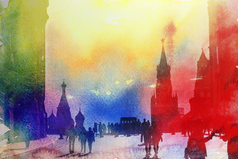 Fotoansicht des Moskaus der Kreml lizenzfreie stockfotos