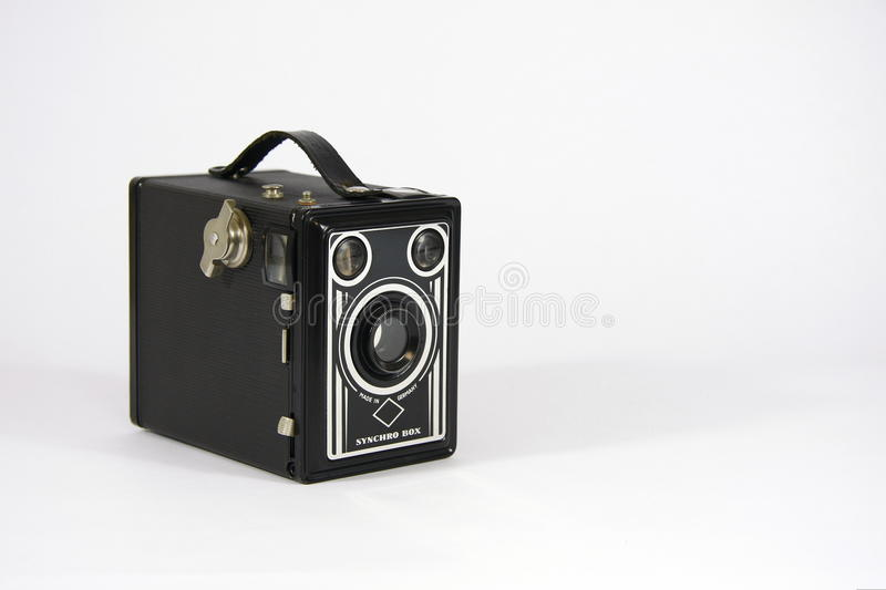 Fotobox. Photo box is an antique camera royalty free stock photo