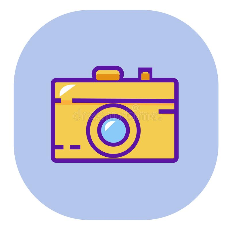 Camera, image, picture, photo flat color Icon. Vector icon banner template royalty free illustration
