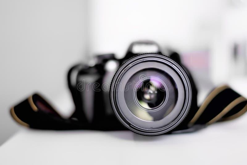 Fotocamera of Videolensclose-up stock afbeelding