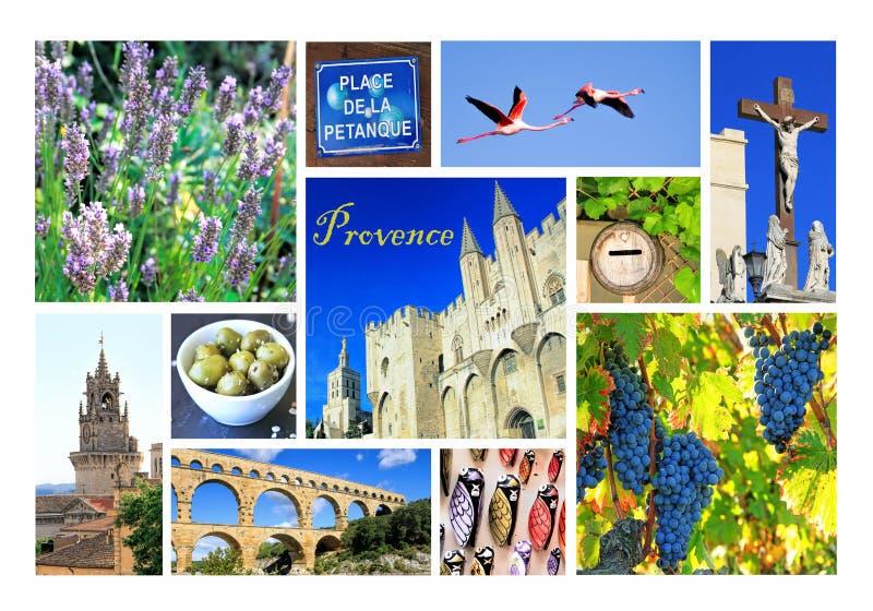 Fotocollage Provence, Frankreich lizenzfreie stockfotos