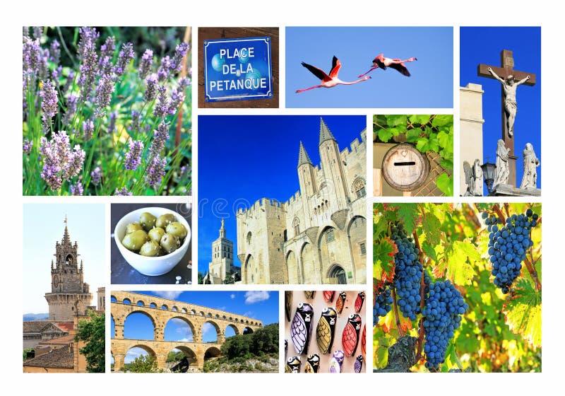 Fotocollage Provence, Frankrike royaltyfria foton