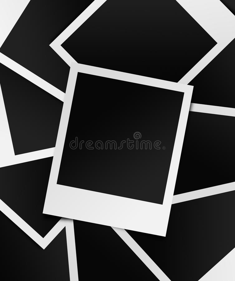 Fotocollagenpolaroide lizenzfreie abbildung