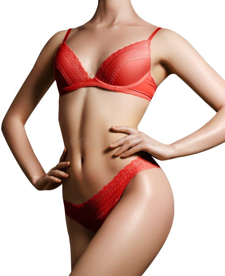 Fotoet av härligt bantar kroppen Form för kvinna` s med ren hud, fla royaltyfria bilder
