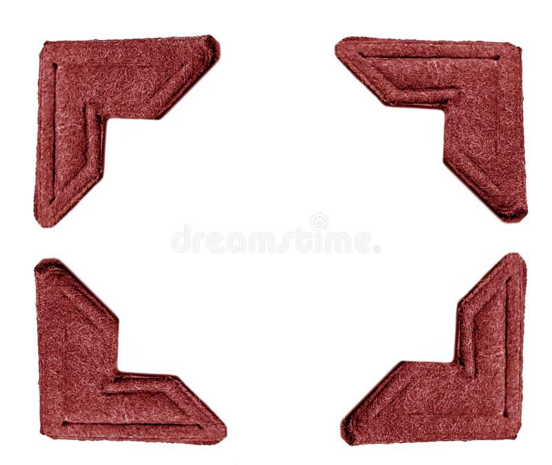 Fotoet corners red arkivfoton