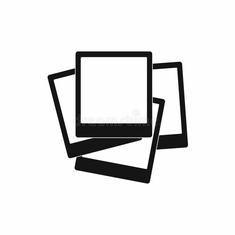 Fotoet inramar symbolen, enkel stil stock illustrationer