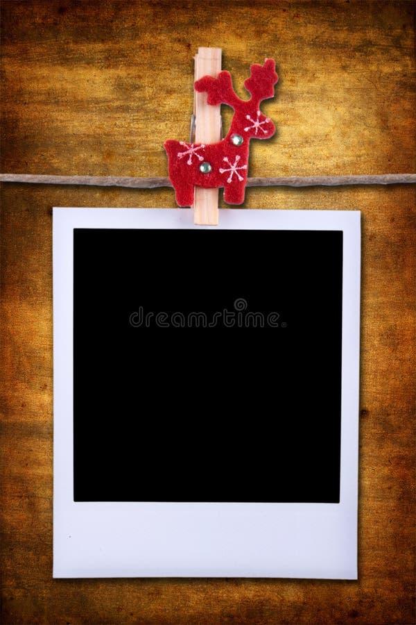 Fotofeld über grunge Hintergrund lizenzfreie stockfotografie