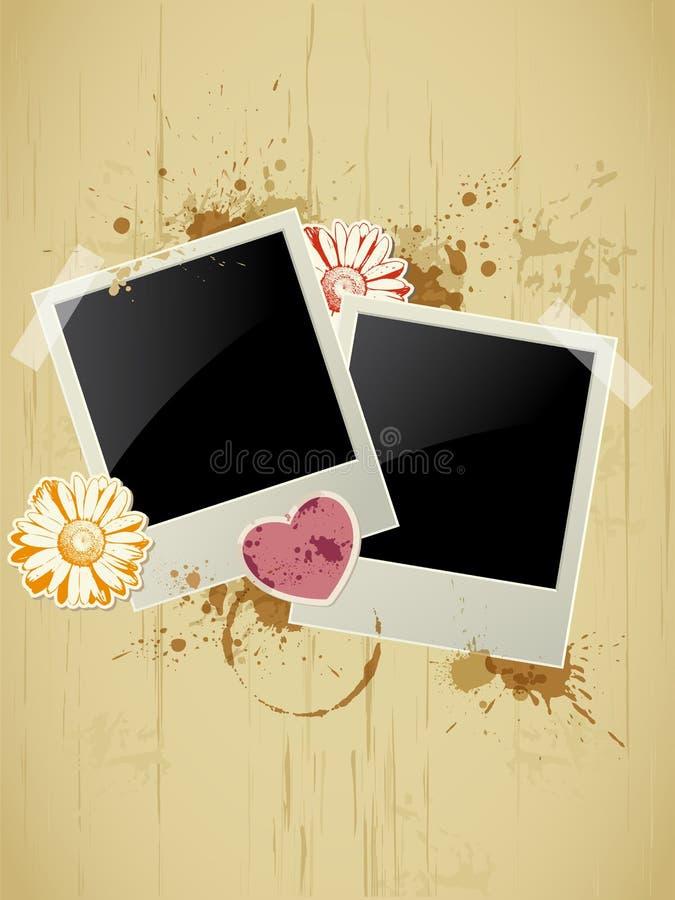 Fotofeld auf einem grunge Hintergrund lizenzfreie abbildung