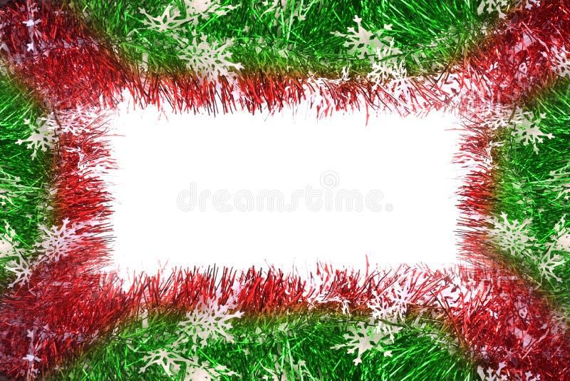 Fotofeld gebildet mit Weihnachtsrotfarbband lizenzfreie stockbilder